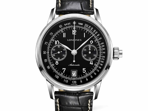 Longines Column Wheel Single Push-Piece Chronograph Uhr