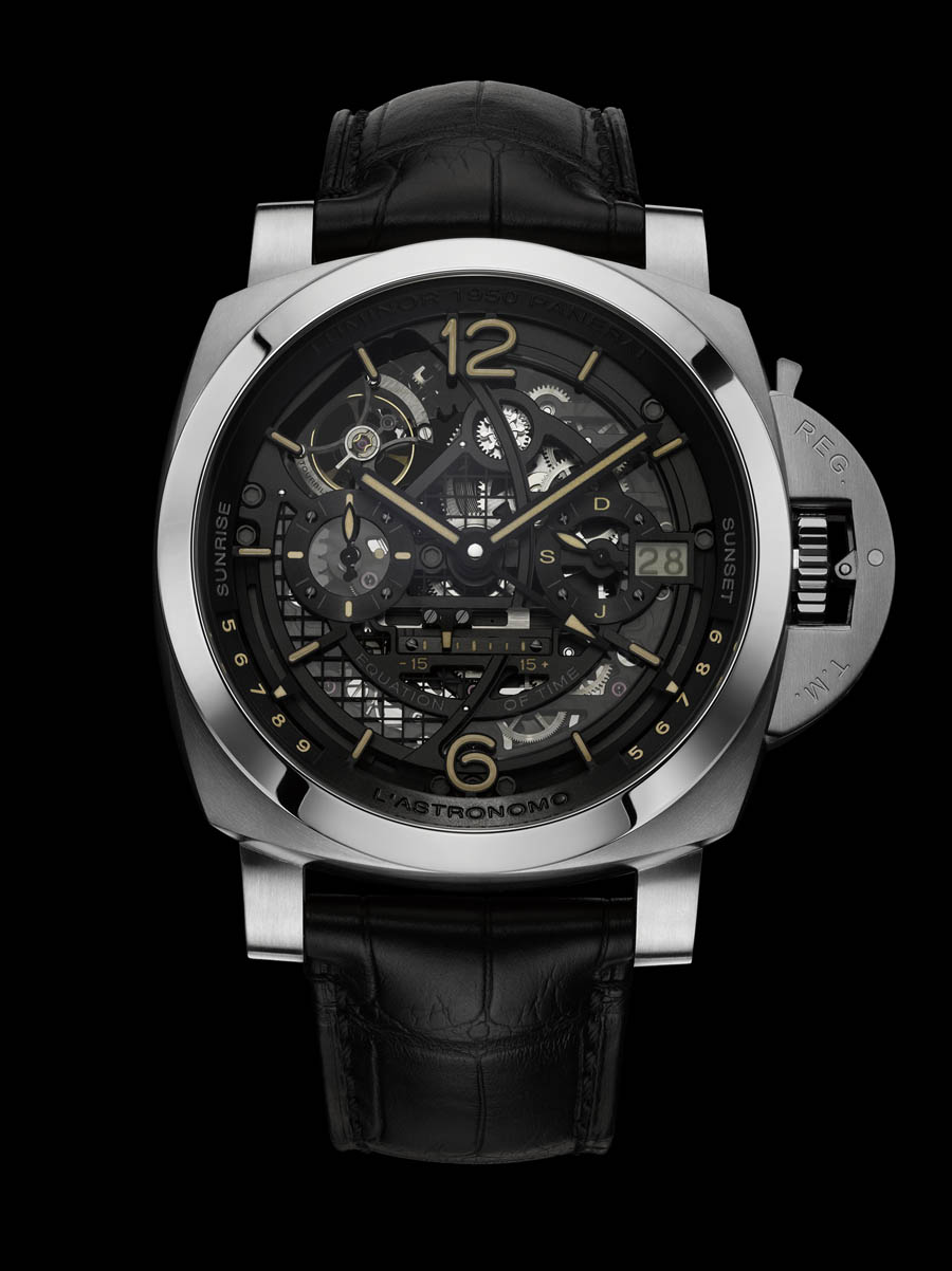 Panerai L'Astronomo Luminor 1950 Tourbillon Moon Phases Equation of Time GMT